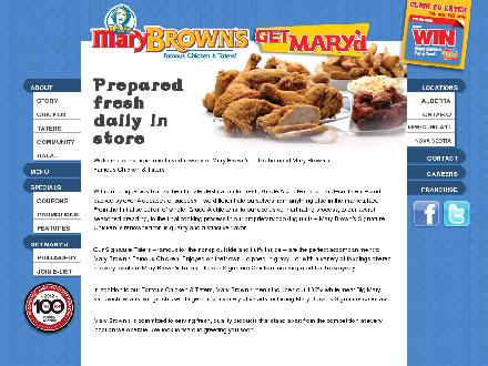Mary Brown's (709-368-0208) - Website thumbnail - http://www.marybrowns.com