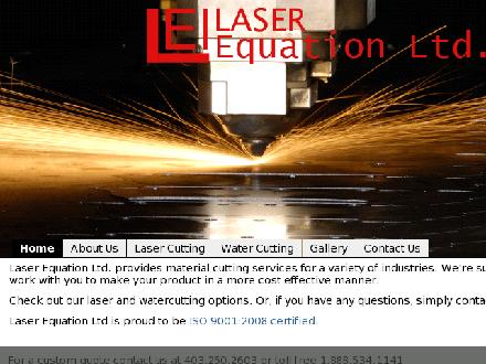 Laser Equation Inc (403-250-2603) - Onglet de site Web - http://www.laserequation.com