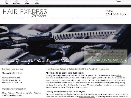 Hair Express Salon (250-554-1366) - Website thumbnail - http://hairexpresssalon.ca/