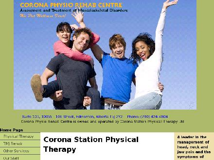 Corona Physio-Rehab Centre (780-424-4804) - Website thumbnail - http://www.coronaphysio.com