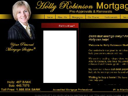 Holly Robinson Mortgages - #1 In Atlantic (902-497-2265) - Website thumbnail - http://www.hollyrobinsonmortgages.ca