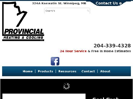 Provincial Heating & Cooling (204-339-4328) - Website thumbnail - http://www.provincialheating.ca