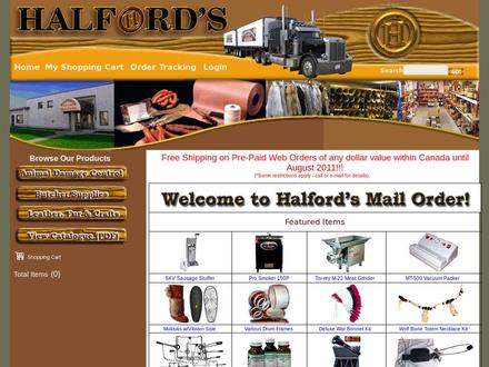 Halford's (1-800-353-7864) - Onglet de site Web - http://www.halfordhide.com