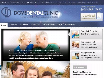 Dove Dental Clinic (604-589-7877) - Onglet de site Web - http://www.dovedentalsurrey.com