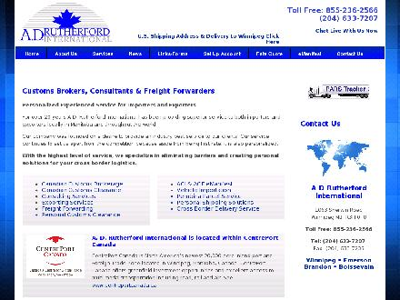 A D Rutherford International Inc (204-633-7207) - Onglet de site Web - http://www.adrutherford.com