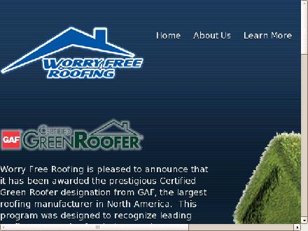 Worry Free Roofing (613-837-5479) - Onglet de site Web - http://www.worryfree-roofing.com