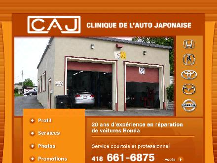 Clinique De L'Auto Japonaise (418-661-6875) - Onglet de site Web - http://www.cliniquecaj.com