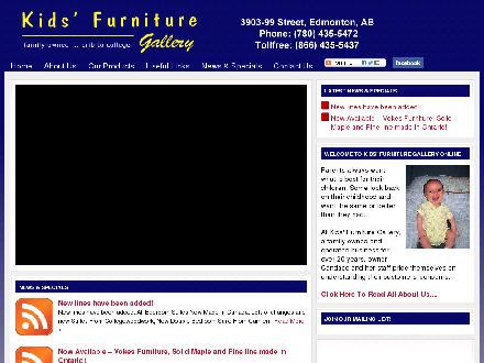 Kids' Furniture Gallery (780-435-5472) - Website thumbnail - http://www.kidsfurnituregallery.com