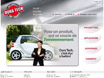 Dura Tech auto center (514-418-9284) - Onglet de site Web - http://www.duratech.ca