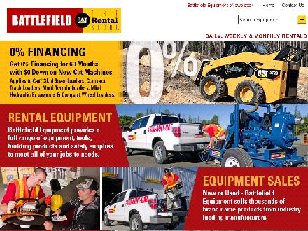Battlefield Equipment Rentals (905-374-7700) - Website thumbnail - http://www.battlefieldequipment.ca