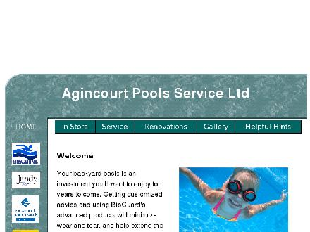 Agincourt Pool Services Ltd (416-755-6875) - Website thumbnail - http://www.agincourtpools.com