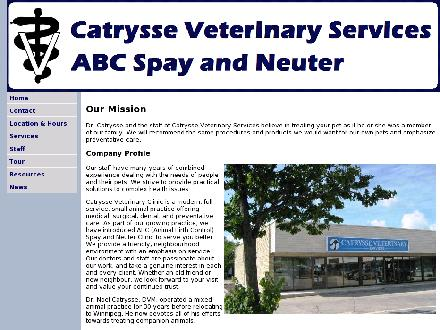 Catrysse Veterinary Services Ltd (204-489-9111) - Website thumbnail - http://www.catryssevetservices.com