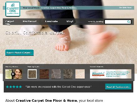 Creative Carpet One (905-471-0111) - Website thumbnail - http://www.creativecarpetonemarkham.com