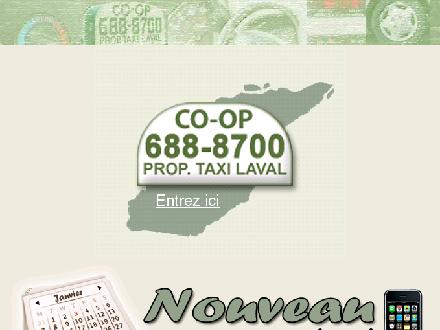 Co-Op Taxi Laval (450-688-8700) - Website thumbnail - http://www.taxilaval.com/