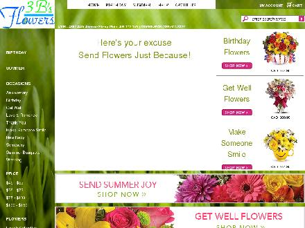 3B's Flowers (780-968-6938) - Website thumbnail - http://www.3bsflowers.com