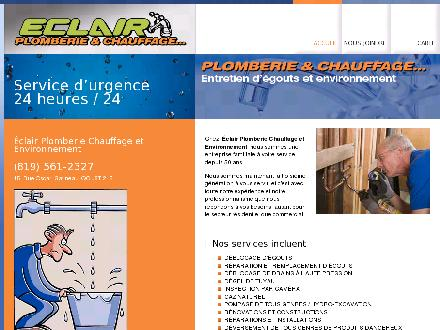 Eclair Plomberie Chauffage Et Environnement (819-561-2327) - Website thumbnail - http://www.eclairplomberiechauffage.pj.ca