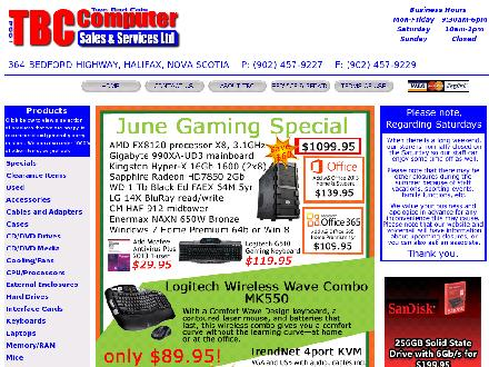 "TBC Computer Sales & Services, ""Two Bad Cats"" Ltd (902-457-9227) - Onglet de site Web - http://www.tbcweb.com/"
