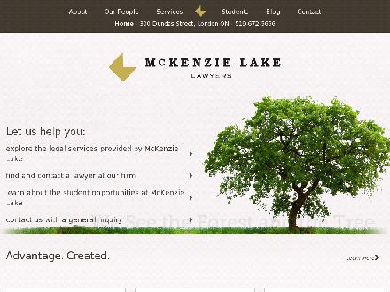 McKenzie Lake Lawyers LLP (519-667-2620) - Website thumbnail - http://www.mckenzielake.com