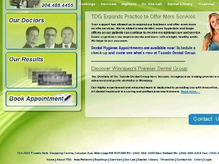 Tuxedo Dental Group (204-515-1132) - Onglet de site Web - http://www.tuxedodental.ca