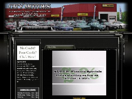 City Motors (902-436-4289) - Onglet de site Web - http://www.citymotors.ca