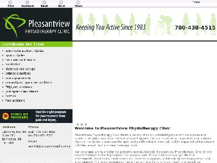 Pleasantview Physiotherapy Clinic Ltd (780-401-9594) - Onglet de site Web - http://pleasantviewphysio.ca/