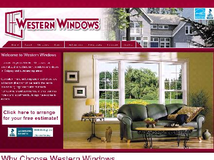 Western Windows Alberta Ltd (403-291-3035) - Website thumbnail - http://www.westernwindows.com