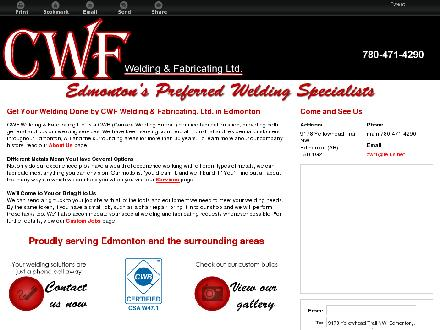 CWF Welding & Fabricating Ltd (780-471-4290) - Website thumbnail - http://cwfwelding.ca/