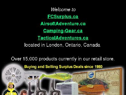 Forest City Surplus Ltd (519-451-0246) - Onglet de site Web - http://www.fcsurplus.ca