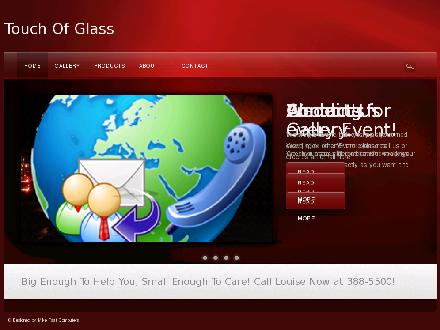 A Touch Of Glass (204-388-5500) - Onglet de site Web - http://www.touchofglass.ca
