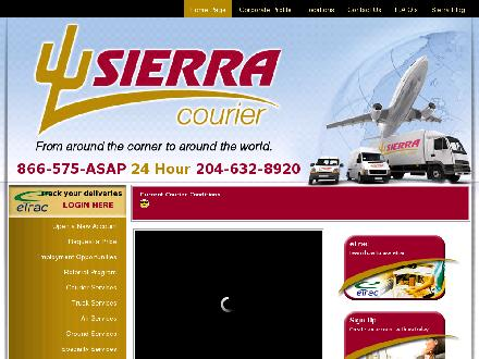 Sierra Courier (204-632-8920) - Website thumbnail - http://www.sierracourier.com