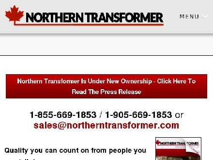 Northern Transformer Corp (905-669-1853) - Onglet de site Web - http://www.northerntransformer.com