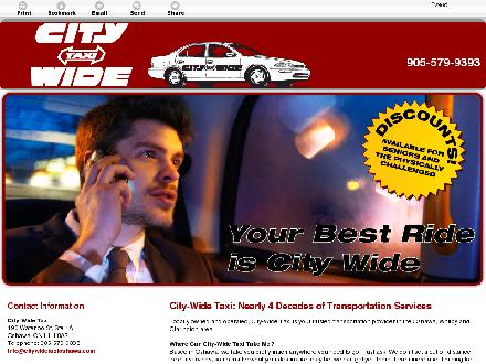 City-Wide Taxi (905-579-9393) - Website thumbnail - http://www.citywidetaxioshawa.com