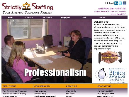 Strictly Staffing Inc (902-444-7880) - Onglet de site Web - http://www.strictlystaffing.ca