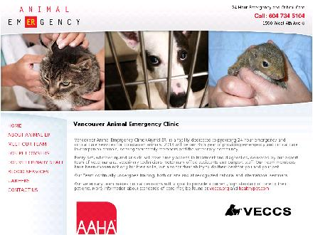 Vancouver Animal Emergency Clinic Ltd (604-734-5104) - Website thumbnail - http://www.animaler.com
