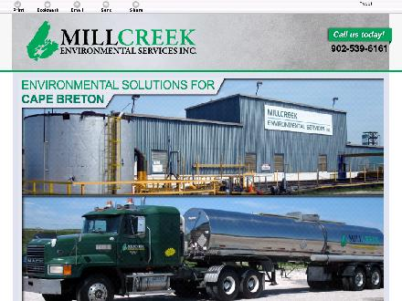 Millcreek Environmental Services Inc (902-539-6161) - Website thumbnail - http://millcreekenvironmental.ca/