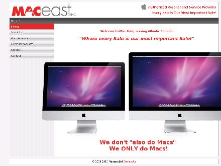 Mac East (902-444-4622) - Onglet de site Web - http://www.maceast.ca