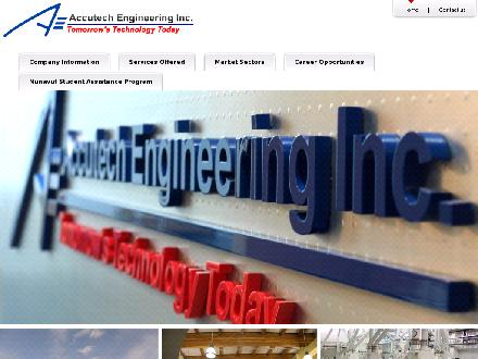 Accutech Engineering Inc (204-944-1555) - Onglet de site Web - http://www.accutecheng.ca