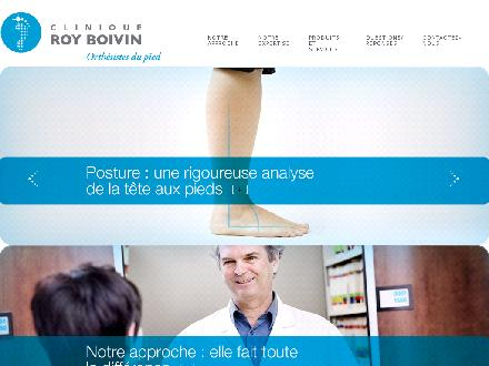 Clinique Roy Boivin Orthesistes Du Pied (418-650-1600) - Onglet de site Web - http://www.cliniqueroyboivin.com