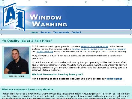 A 1 Window Washing Inc (250-896-5849) - Website thumbnail - http://www.a1windowwashing.ca