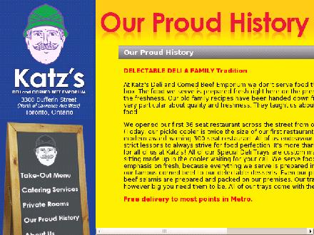 Katz Deli And Corned Beef Emporium (416-782-1111) - Website thumbnail - http://www.katzsdeli.com