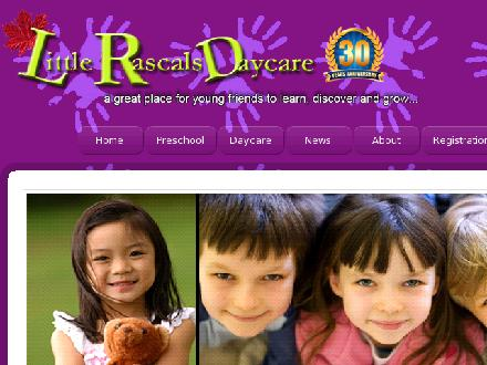 Little Rascals Daycare Ltd - Onglet de site Web - http://www.littlerascals.ca