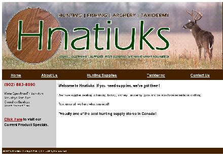 Hnatiuk's Hunting & Fishing Ltd (902-883-8890) - Website thumbnail - http://www.hnatiuks.com
