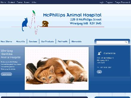 McPhillips Animal Hospital (204-589-8381) - Onglet de site Web - http://www.mcphillipsanimalhospital.com
