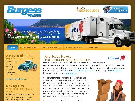 Burgess Transfer & Storage Limited (902-704-2943) - Onglet de site Web - http://www.BurgessTransfer.com