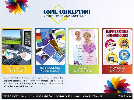 Copie Conception Inc (819-801-1624) - Onglet de site Web - http://www.copieconception.ca