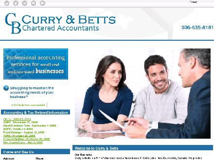 Curry & Betts (506-635-8181) - Onglet de site Web - http://currybetts.ca/