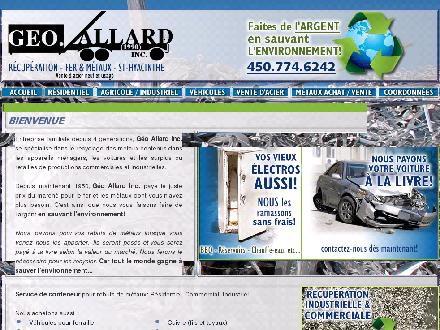Allard Georges 1990 Inc (450-774-6242) - Onglet de site Web - http://www.recuperationgeoallard.com