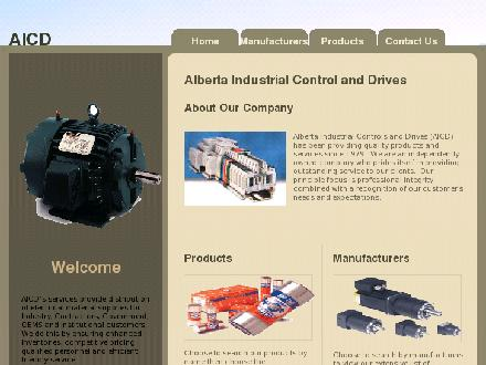 Alberta Industrial Controls & Drives (780-436-4848) - Onglet de site Web - http://www.altaindustrialcontrols.com