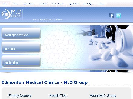 Lessard Medical Clinic (780-757-7999) - Onglet de site Web - http://www.mdgroupclinics.com