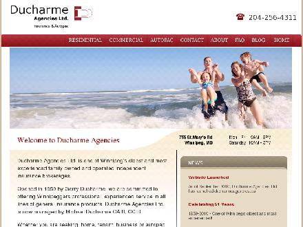 Ducharme Agencies Ltd (204-256-4311) - Website thumbnail - http://www.ducharmeinsurance.ca